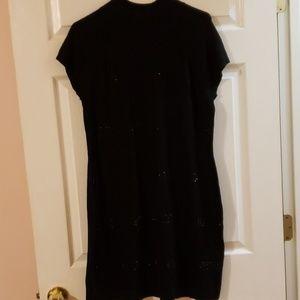 Apt 9 black sweater sequin dress xl